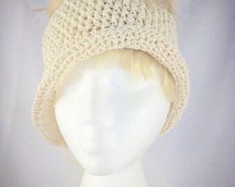 Summer ponytail hat, cotton messy bun hat, crochet sun hat, women sun hat, cotton ponytail hat, wide brim hat, cotton beach hat, summer hat