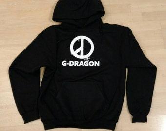 SALE! SALE!! G-Dragon Peace Kpop Star, Big Bang, YG, 빅뱅 지디 지드래곤 Chicago Concert Hoodie Sweatshirt