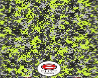 """Digital Camo Yellow  2 15""""x52"""" or 24""""x52"""" Truck/Pattern Print Tree Real Camouflage Sticker Roll or Sheet"""
