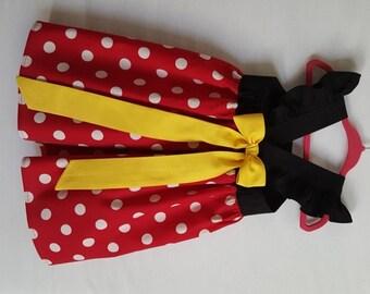 Minnie Mouse Dress, Disney Dress, Disney Clothing, Baby Girls Dress, Little Girls Dress, Minnie Mouse Party Dress, Flutter Sleeve Dress
