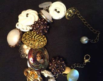 Vintage Button Charm Bracelets for Mother's Day!