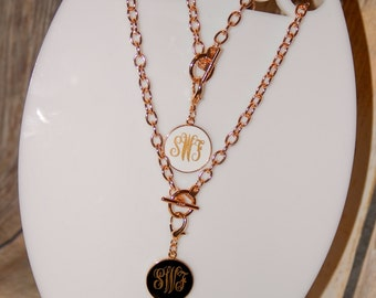 Monogrammed Toggle Necklace