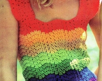 Ladies Tank Top, Crochet Pattern. PDF Instant Download.