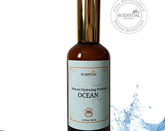 Organic Ocean Hydrating Body Mist, Ocean Body Spray, Vegan Perfume Mist, Natural Body Splash, Gift Idea