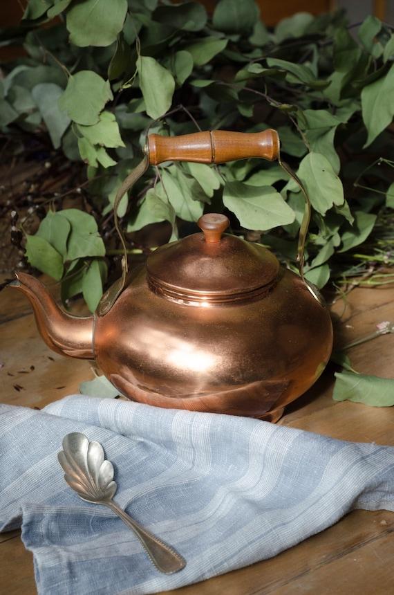 Vintage copper Teapots