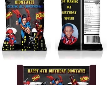 Superhero inspired Custom Chip Bags