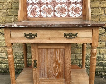 SORRY  I am now SOLD....A Fabulous Satinwood Wash Stand.