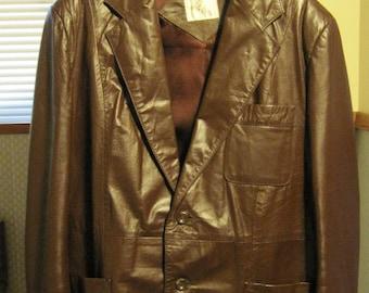 Men's Leather Jacket, Brown Leather Jacket, Jacket