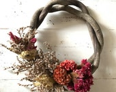 "8"" Dried flower wreath"
