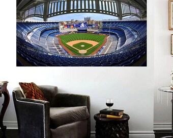 Yankee Stadium Canvas Art Print Yankee Stadium Panoramic Effect Large 36 X  24 Part 74