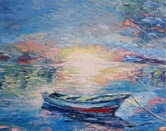 Oil painting, impressionism, miniature, 18х20 cm