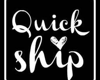 NEW! Quick Ship Listings!