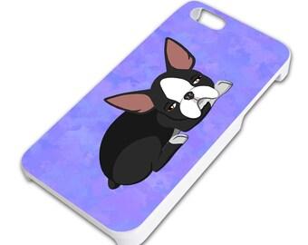 Sleepy Boston Terrier Slim Fit Hard Case Fits Apple iPhone 5 5S