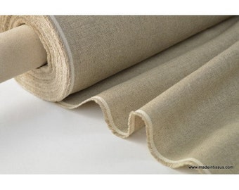 Fabric natural linen gross by 50cm