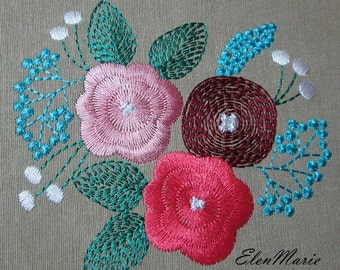 Flowers - Machine Embroidery Design 4*4, 5*5