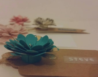 Floral Place card tags