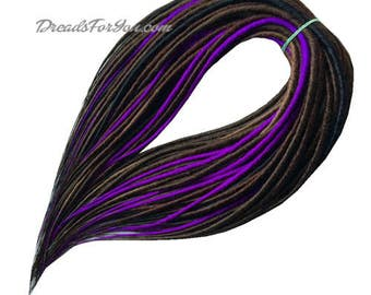 Set DE Classic Smooth Synthetic Dreads Brown/Violet