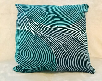 African throw pillows - decorative pillow - 12x12 - light blue, turquoise, navy