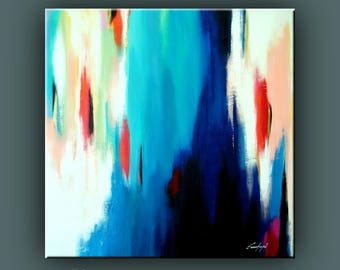 """Original Painting, Contemporary Art, Abstract Painting, Modern Painting, Square Painting, Acrylic on Canvas, 32""""x32"""" Ready to Hang Art"""