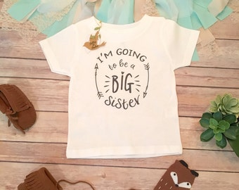 Big Sister Shirt, Pregnancy Reveal Shirt, Family Shirts, Pregnancy Announcent, Toddler Shirt, Future Sister, I'm Going to be a Big Sister