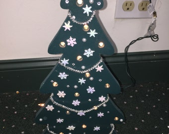 Light Up Wooden Christmas Tree