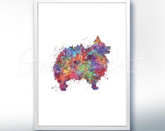 Pomenarian Watercolor Art Print - Pomenarian Dog Watercolor Art Painting - Pomenarian Poster - Home Decor - House Warming Gift