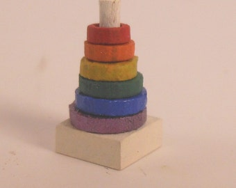 Miniature 1:12 Scale Stacking Rings KIT