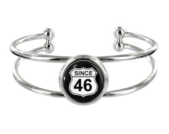 Since 46 Silver Plated Bangle in Organza Gift Bag