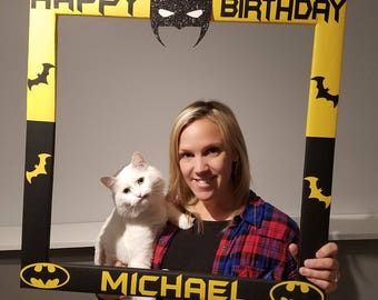 Custom Photo Frame - Batman - PhotoBooth - Party - Birthday Superhero Decoration