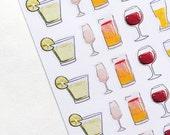 Tropical drinks Kit | Decor| Stickers