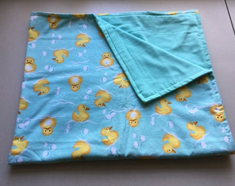Big Duckies and Bubbles Baby Blanket for Lisa