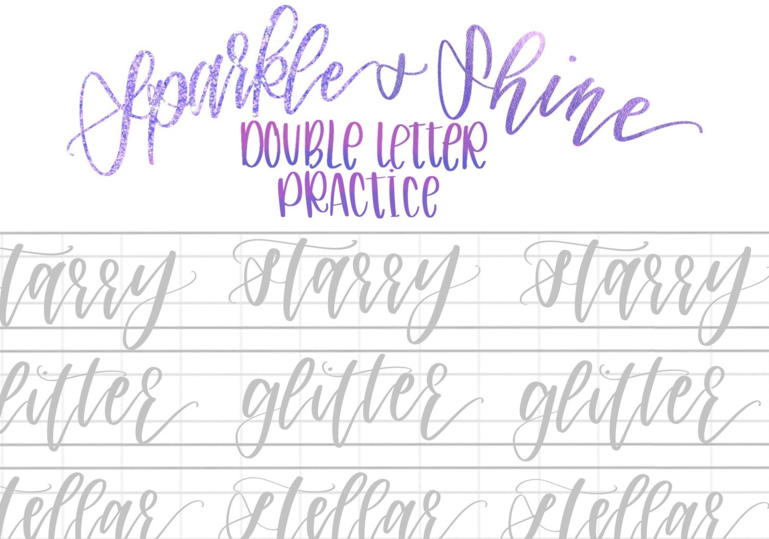 Small Hand Lettering Practice Sheets - Hand Lettering Worksheets ...