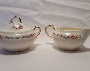 Vintage Harker Pottery Vintage Sugar and Creamer