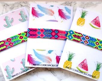 Neon friendship bracelet, Multicolor bohemian bracelet, woven friendship bracelet, Bff Bracelet, neon cuff bracelet, wish bracelet