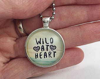 Wild At Heart Necklace BoHo Pendant Gift For Her Pendant Wild Woman