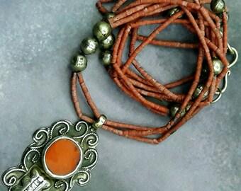 Vintage turkmen silver nacklace. turkmenistan jewelry