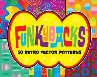 Funkybacks! 50 Retro Vector Patterns!
