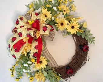 Spring Grapevine Wreath, Mother's Day Wreath, Spring Wreath, Summer wreath, Summer Grapevine wreath