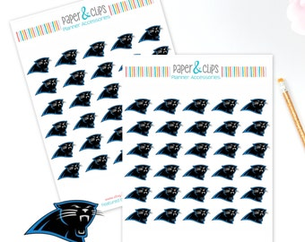 30 Carolina Panthers Football Reminder or Planner Stickers
