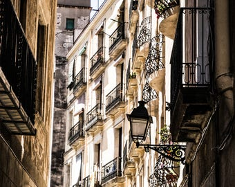 Barcelona Streets - Wall Art - Fine Art Photography - City Art - Barcelona Decor - Barcelona Photography - Gothic Quarter - 0058