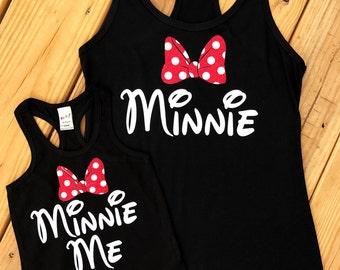 Disney shirt tank minnie me minnie mouse Tank top Disney Girl Baby Toddler Ladies disney world monogram disney vacation shirt Minnie Mouse