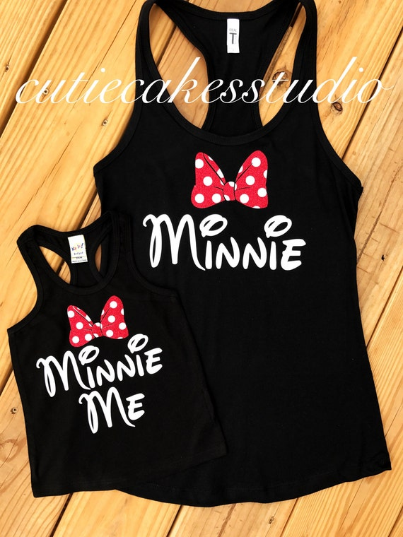Disney Shirt Tank Minnie Me Minnie Mouse Tank Top Disney Girl
