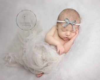 Cream- Off White- Tan Colored-Cheesecloth Baby Wrap- Newborn- Photography Prop