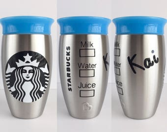 Starbucks Kids Stainless Cup - Munchkin Miracle 360 Stainless Steel - Sippy Cup 360 - Water Starbucks Sippy Cup - Starbucks Party Favors