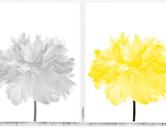 Grey And Yellow Wall Decor yellow gray decor | etsy