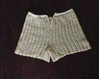 70s Crochet Hot Pants