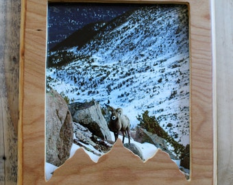 8x10 Wooden Mountains Picture Frame