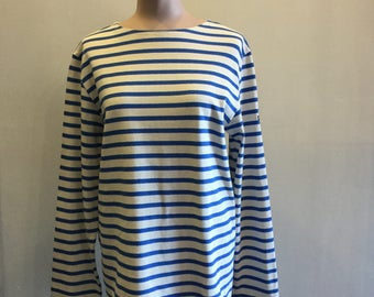 Saint James L'Atelier Shirt Navy Blue and White