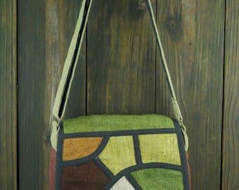 Hemp Mosiac Messenger bag