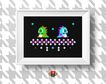 BUBBLE BOBBLE - Cross Stitch Pattern - Instant Download